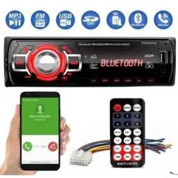 Som Automotivo Bluetooth e Radio Am FM Carro MP3 Pen Drive