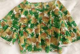 blusa estampada de abacaxi