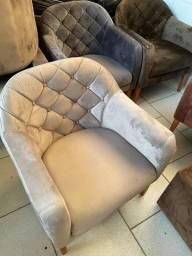 Título do anúncio: Cadeira Cinza Veludo - A pronta entrega -