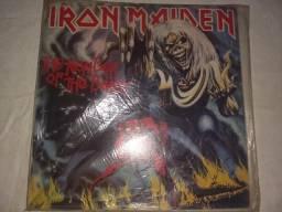 Lp vinil iron maiden the nunber of the beast com encarte1982
