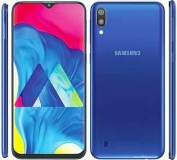 Samsung Galaxy M10 Azul Dual Sim LTE reconhecimento facial Dual Câmera Octacore LACRADO comprar usado  Rio de Janeiro