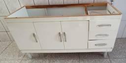 Armário Gabinete Para Cozinha 144,5cm Branco (Sem Pia) comprar usado  São Caetano do Sul