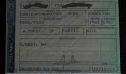 """Vendo chassi com documentos ano """"61"""" f350 guincho plataforma"""