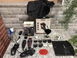 Kit barbeiro, Máquina Magic Clip Wahl e GTX Andis