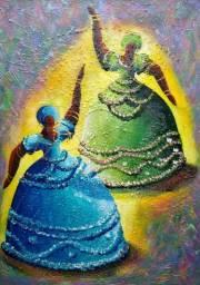 Belo Quadro, Pintura decorativa em acrílica sobre tela 50x70 Artista André Gallo
