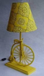Abajur Rústico Bicicleta - Cód 2003