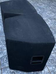 Par de Caixas de som gabinete subgrave subwoofer 18 polegadas