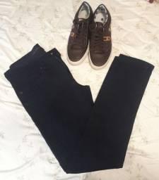 Calça jeans da Calvin e sapatenis Polo