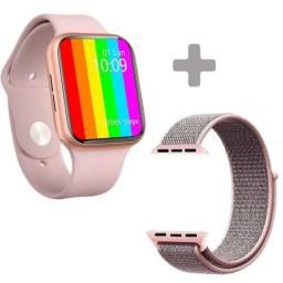 Relógio Inteligente Iwo 13 + pulseira de aço