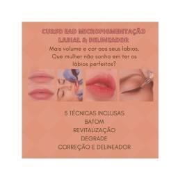 Curso de micropigmentação labial e delineador