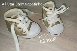 Sapatinho tênis bebê unissex Tam 14