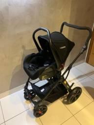 Carrinho de bebê Kiddo Galaxy Grafite + bebê conforto