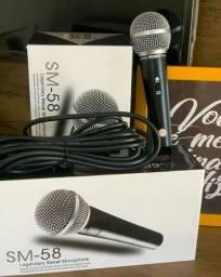 Microfone profissional com 3m de fio
