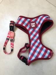 Kit coleira + peitoral Zee Dog