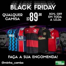 Black Friday Camisas de Futebol