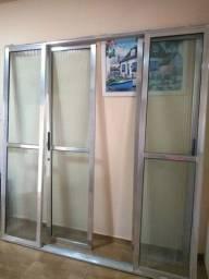 Porta de alumínio/vidro EBEL 2,00×2,10