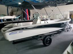 Barco de fibra 5,50 m novo
