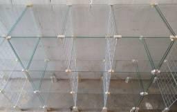 Título do anúncio: Balcão de Vidro   com partes aramadas