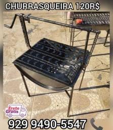 Título do anúncio:  churrasqueira tambo brinde 2 saco Carvão  entregamos ate voce #@!