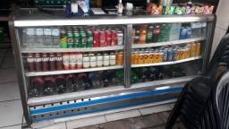 Título do anúncio: Vendo balcao de bebidas usado e gelando bem