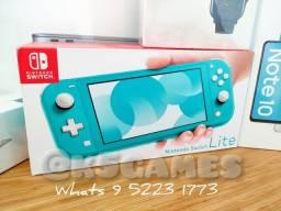 Nintendo Switch Lite Turqueza ( LACRADO ABC SP CLICA E COMPRE)