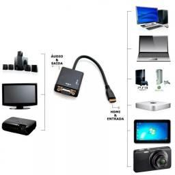 Conversor HDMI para VGA com áudio original