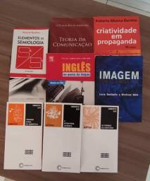 Livros diversos de Design e Comunicação