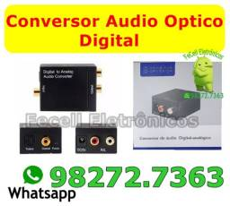 Adaptador de Audio Optico Digital Fibra Coaxial Rca Analógico