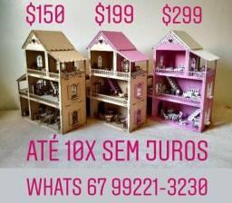 Casinha de boneca com móveis - Entrego e parcelo