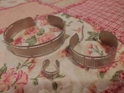 Título do anúncio: Kit: choker, pulseira e anel
