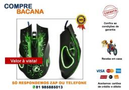 Mouse Gamer Stone Óptico X9 6 Botões Pc Usb 3200 Dpi