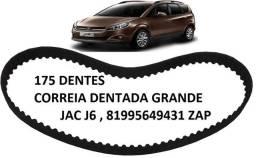 Correia dentada Grande 175 Dentes Jac J6 Nova