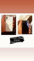 Título do anúncio: iPhone X  256gb<br>Branco <br>Face ID inativo