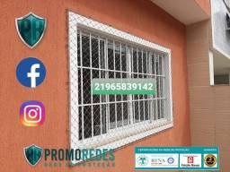 Telas mosquiteiras + redes de proteção