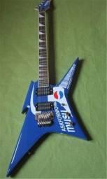 Título do anúncio: Guitarra elétrica em forma de azul, personalizada.