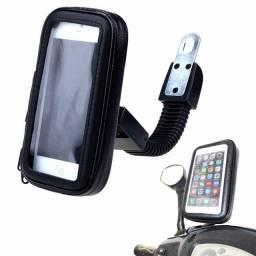 Suporte impermeável de celular para Motos