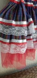Lindo vestido  de festa junina 70,00