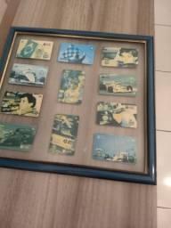Quadro do Airton Senna de cartão telefone