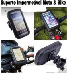 Suporte celular impermeável bike moto//entrega grátis promoção