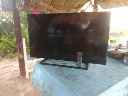 Tv Panasonic LCD com defeito na tela display quebrado