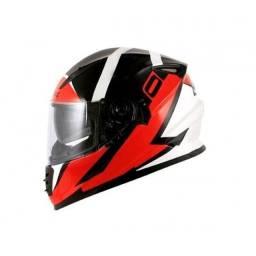 capacete  Norisk ff302  ridic  branco e vermelho
