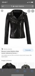 jaqueta de couro Francesa Madona - loja Maje