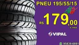Título do anúncio: Pneu Remold aro 15 Vipal 195/55/15 Av.Piraporinha nº 330,São Bernardo