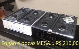 Título do anúncio: Fogão Novo 4 Bocas de MESA ( whatsapp 98867'1863 )