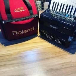 Acordeon Roland 72bx Fr-x1 Preto