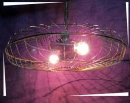 Lustre de Teto Grade de Ventilador 2 Lampadas
