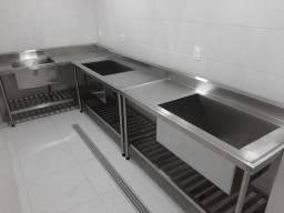 Título do anúncio: cozinha industrial - moveis em aço inox - Portinoxbr