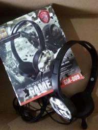 Última Unidade! Fone Headset Gamer com Microfone!