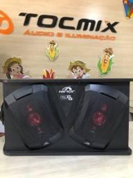 Caixa Automotiva Amplificada Hinor Box Trio 6x9 250w Rms  somos loja física