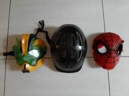 Vendo capacete e máscaras